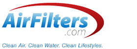 "AirFilters.com logo featuring the ""Clean Air. Clean Water. Clean Lifestyles."" tagline"