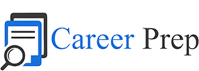 Career Prep logo with magnifying glass