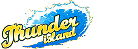 Thunder Island logo with a wave