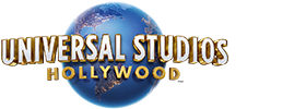 Universal Studios Hollywood logo featuring the globe