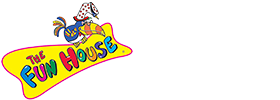 The Fun House logo featuring a multi-color parrot wearing a fun hat
