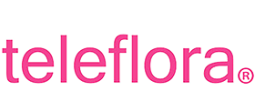The Teleflora logo in pink font