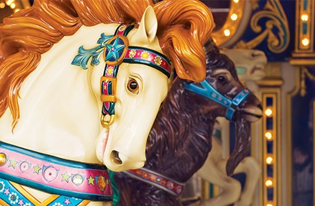 wooden carousel horse