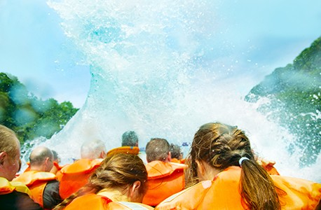 Whitewater rafting waves
