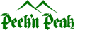 Green Peek 'n Peak logo featuring two mountains