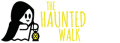 The Haunted Walk logo featuring a little caped ghost holding a lantern